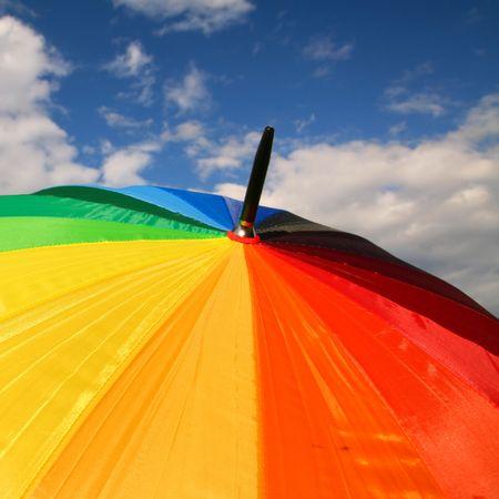 umbrella in blue sky waiting rain Stock Photo - 3138973