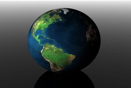 3d earth in black space Stock Photo - 3178314