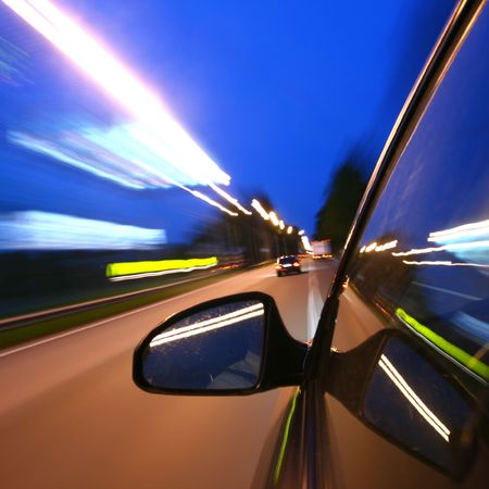 speed drive on car at night motion blurred Stock Photo - 3215711