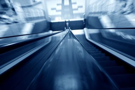 blurred escalator abstract transportation background Stock Photo - 3215834