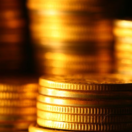 tresure: gold coins shiny finance background
