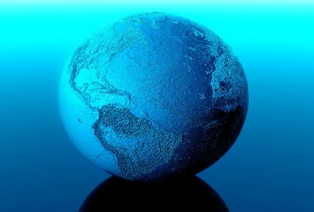 3d earth in black space Stock Photo - 3215769