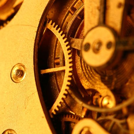 old clock gear macro closeup photo