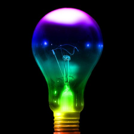 close up bulb on black background  Stock Photo