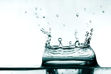colossal water splash macro close up Stock Photo - 3368688