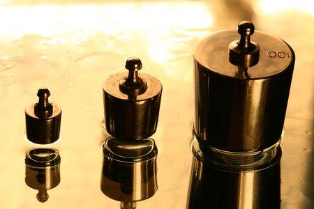 calibration: Pesi di taratura standard della scienza sfondo