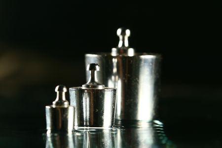calibration: Pesi taratura standard scienza sfondo