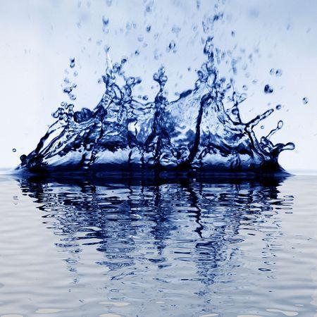 colossal water splash macro close up photo