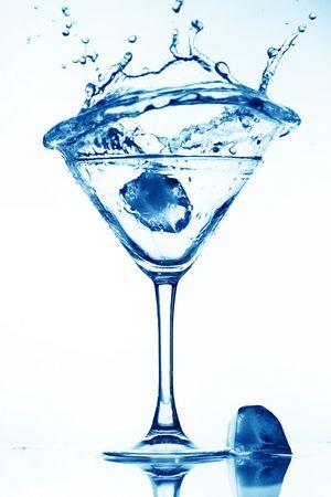 martini splash: alcohol martini splash mixed cocktail Stock Photo