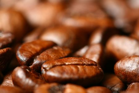 cappuchino: coffee beans macro close up Stock Photo