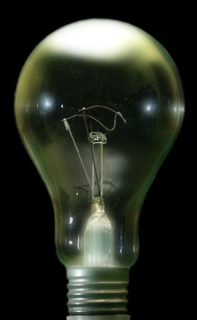 close up bulb on black background Stock Photo - 3459872