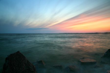 beautiful sea summer morning sunset photo