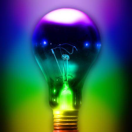 close up bulb on black background  Stock Photo - 3747799