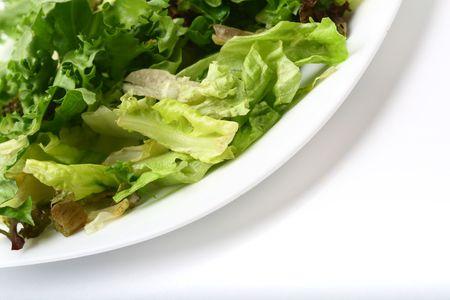 salad isolated on white background photo