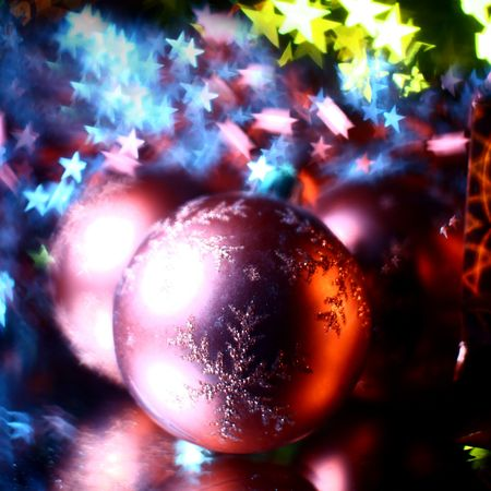 holiday gifts background warm stars  photo