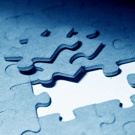 puzzle combined objects macro close up Stock Photo - 3822552