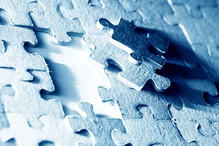 puzzle combined objects macro close up Stock Photo - 3822669