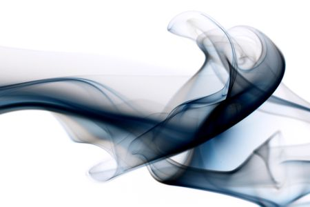 blue smoke abstract background close up photo