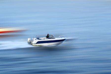 water transportation: speed boat water transportation background Stock Photo