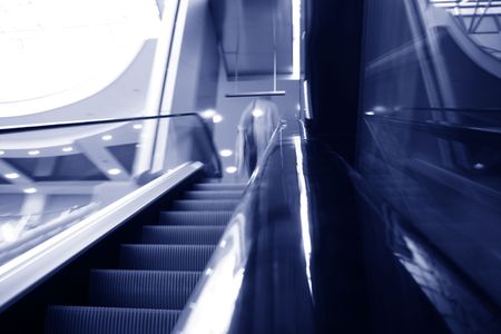 blurred escalator abstract transportation background Stock Photo - 3864081