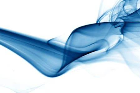 blue smoke abstract background close up Stock Photo - 3864060