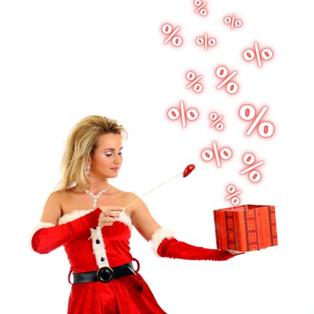santa girl have magic sale Stock Photo - 3897979