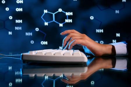 dna information of genom typing on keyboard Stock Photo - 3983247