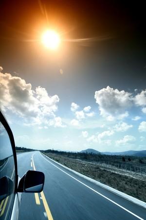 speedy day drive on car Stock Photo - 4212426