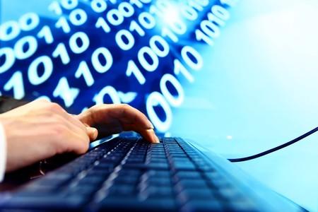 businessman data info technology concept Stock Photo - 4274814
