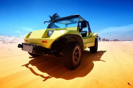 desert buggy in desert sand under blue sky Stock Photo - 4304833