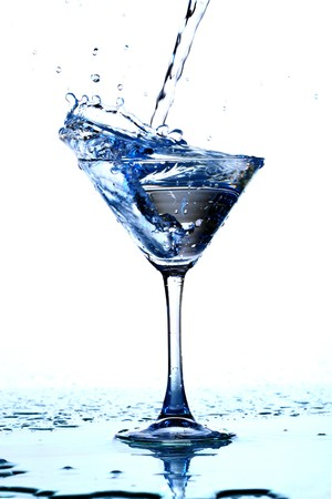 alcohol splash macro close up Stock Photo