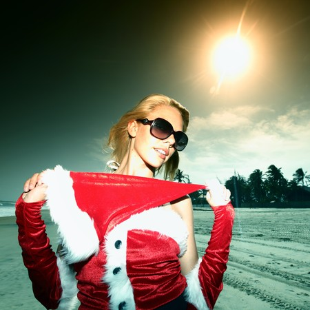 vocation: santa girl vocation on beach