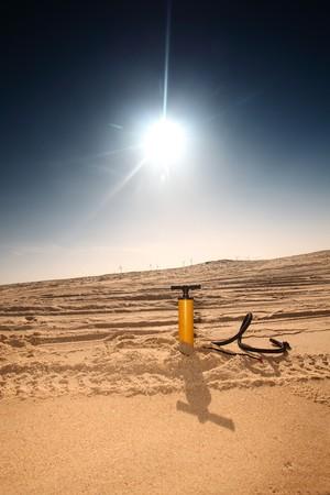 air pump   in the desert photo