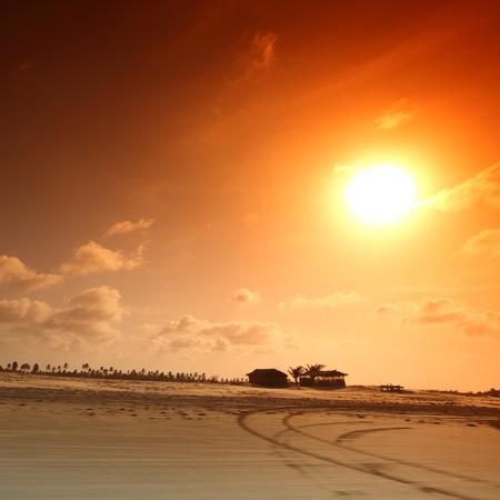 hummock: desert sand under blue sunny sky Stock Photo