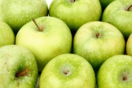 green apple background macro close up Stock Photo - 4363503