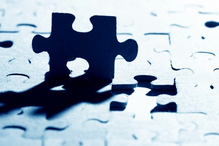 puzzle combined objects macro close up  Stock Photo - 4363436