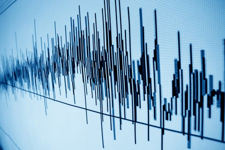 sound audio wave abstract background photo
