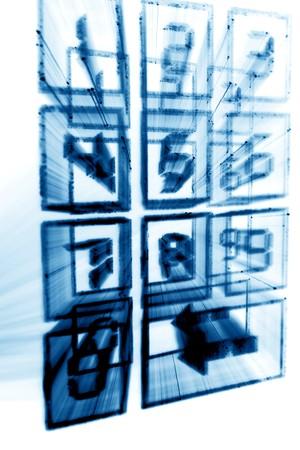 numpad: cyber numpad abstract in motion  Stock Photo