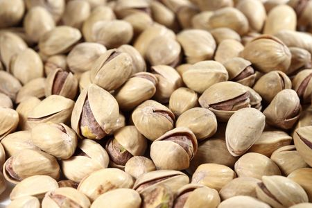pistachios background macro close up photo