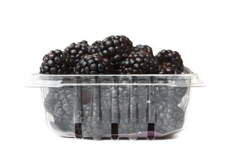 flavorful: cart of blackberry isolated on white