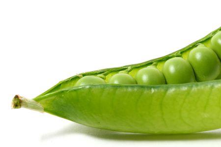 peas isoladed on white macro close up