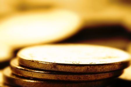 coins background macro close up photo