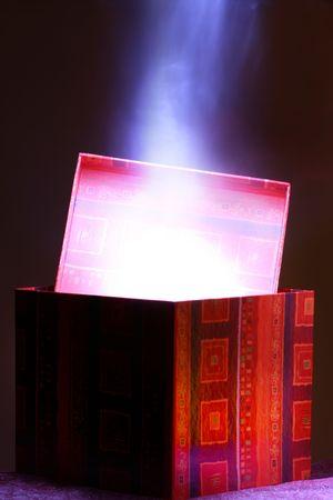 holiday magic box treasure gift inside photo