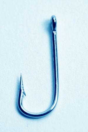 fishing hooks macro close up on white Stock Photo - 4976531