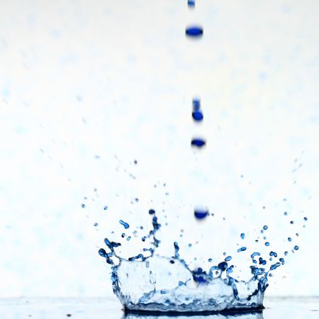 ink splash  macro on white photo