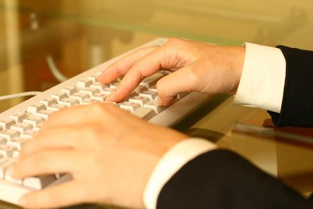 keyboard work hand background photo