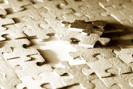 puzzle combined objects macro close up  Stock Photo - 4975564