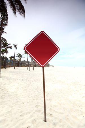 desert sign in sand under palm Stock Photo - 4979056