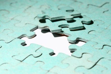puzzle combined objects macro close up Stock Photo - 4979298