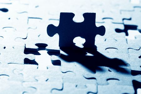 puzzle combined objects macro close up  Stock Photo - 4977982
